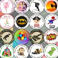 Sheet of Personalised Birthday Party Stickers for party bags sweet cones