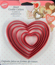 Heart Nesting Plastic 6pc Cookie Cutter Set from Wilton #115