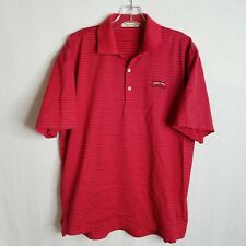 PETER MILLAR Mens Polo Golf Short Sleeve Red Shirt Size Small WOLFDANCER - B302