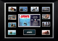 JAWS MOVIE MOUNTED PRINT