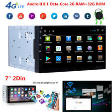 "Double 2Din Android 8.1 7"" Car Stereo GPS Radio Octa-Core 2G RAM+32G ROM No-DVD"