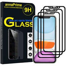 """3 Vitre Film Verre Trempe Protecteur d'écran NOIR Apple iPhone 11 6.1"""" A2221"""