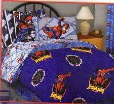 "Spiderman Fleece Throw Blanket Twin Full size the Avengers 72' x90""  new"