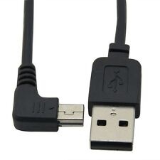 USB 2.0 A to Mini B 5pin Male Data Charging Cable Right Angled 90 Degree 0.3M