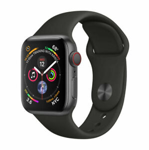 Apple Watch Series 4 GPS 44MM Space Gray  Case & Black Band Bad Condition