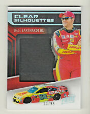 2019 Panini Prime Racing CLEAR SILHOUETTES RELIC DALE EARNHARDT JR 23/99 NASCAR