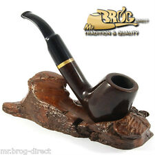OUTSTANDING Mr.Brog original smoking pipe nr. 67 brown classic *FULL BENT* briar
