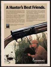 1980 BROWNING A-5 Shotgun AD Black Labrador Retriever & Duck Hunter in blind