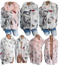 XXL Patches Tuch Schal Sticker Frühling Fransen NEU Sommer Herbst