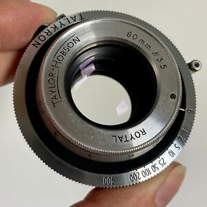 Taylor Hobson Roytal 80mm f3.5 Lens for Kershaw Peregrine II Camera RARE!