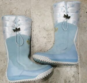 SUPER ULTRA RARE 2005 ADIDAS TREFOIL SNOW CHIC TALL SNOW BOOTS WOMEN'S SIZE US8!