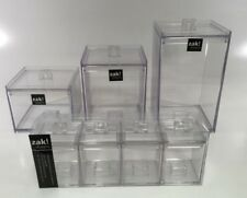 MeeMee Kitchen Homeware Stackable Canisters x 7 Units  Clear Colour Coffee / Tea
