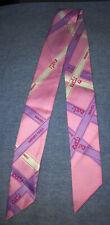 Hermes Silk Twilly Scarf Pink Ribbon Box Logo