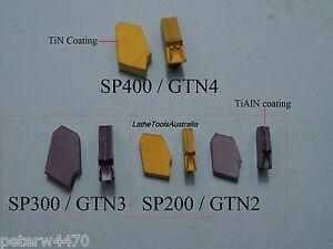 Parting inserts SP / GTN  4mm, 3mm, 2mm SP400 (GTN4) SP300 (GTN3) SP200 (GTN2)