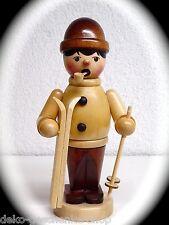 Fumador Figura Humeante Fumador 16cm ESQUIADORES con esquí Natural 40325
