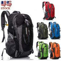 Waterproof Outdoor Sport Hiking Camping Travel Backpack Daypack Rucksack Bag 40L