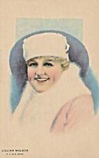 LILLIAN  WALKER- 1910s THEATRE & SILENT MOVIE actress KLINE POSTER postcard/RARE