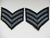NEW PAIR OF RAF/ROYAL AIR FORCE POLICE/AIR CADETS SERGEANTS STRIPES/CHEVRONS