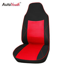 1PCS Sandwich Cloth Classic Car Front Seat Cover Red Car Interior Seat Protector