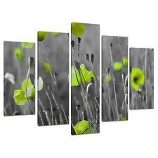 Set Five Cheap Large Lime Green Canvas Art Wall Pictures Prints 5138