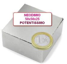 Lotto 5 MAGNETE 50x50x25 mm. 140 200  kg N42 Della Morte NEODIMIO Calamita Forte