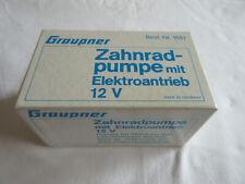 GRAUPNER 1651 ZAHNRADPUMPE MIT E-ANTRIEB 12V - FÜR MONITOR LÖSCHKREUZER WESER