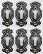 Solid Brass Keyhole Escutcheons Set of 6 Jewelry Victorian Earring Size