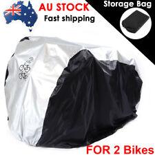 Universal Waterproof Bicycle Bike Cover Rain Garage Storage Protector For 2 Bike