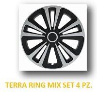 "KIT 4 Copricerchi auto universali coppa ruota 16"" TERRA RING MIX in ABS"