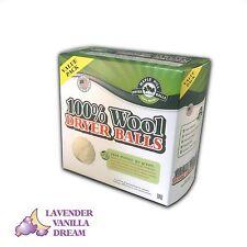 Maple Hill Dryer Balls set of 4 Lavender Vanilla Dream Wool Dryer Balls
