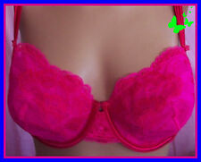 RARE 34D $48 Pink Red Sexy Little Things Victorias Secret Demi unlined UWBra
