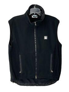 Pearl Izumi Mens Fill Zip Vest Black Pockets Size Medium USA Made Technical Wear