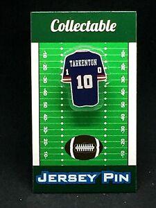 New York Giants Fran Tarkenton jersey lapel pin-Classic throwback Collectible