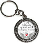 DAD Until I Can Hug You In Heaven Key Chain Ring Purse Charm Memorial Gift