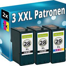 3x inchiostro patonen per LEXMARK 28+29 34+35 XL x5490 x5495 z1300 z1310 z1320 z845