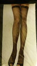 leg avenue white fish net stockings new