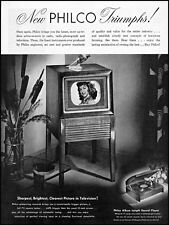 1949 Philco television set console phonograph vintage photo Print Ad adL40