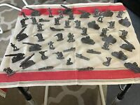 LOT OF 50 VINTAGE LEAD WW I SOLDIERS TANKS ARTILLERY FIGURES