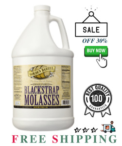 Golden Barrel Bulk Unsulfured Blackstrap Molasses Jug 128 Fl Oz 1 Gallon Jug