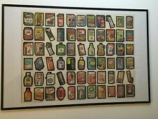 Wacky Packages 1980 Series 3 Half an UNCUT SHEET set of 66 in a Poster Frame