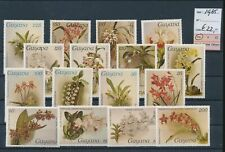LM44825 Guyana 1985 flowers nature fine lot MNH cv 22 EUR