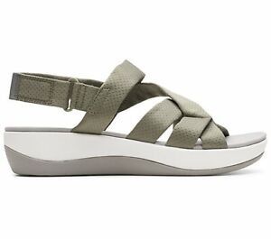 CLOUDSTEPPERS by Clarks Mesh Sport Sandals - Arla Rosie - SAGE GREEN NWD