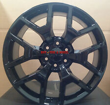 20 GMC Sierra Replica Wheels Gloss Black Rims Silverado Yukon Denali Sierra 22