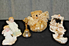 Collection of Five Angels and One Metal Bell with Angel - X658