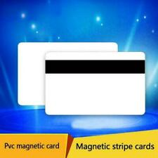 85.5*54*0.76mm 30 MIL Magnetic Stripe BLANK White PVC I3U8 10x CREDIT CARD C3S6