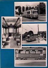 4 Dutch Tram Trambaan Strassenbahn Photos ~ GVB Amsterdam: Netherlands - 1958