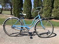 VINTAGE Schwinn hollywood 1960s Blue Women's Bicycle All Original Barn Find