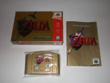 Nintendo 64 Zelda Ocarina of Time Boxed Game with Manual Authentic N64 Gold Cart