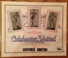 Colchester United v Oxford United - FA Cup 1st Round - Played 25/11/1978