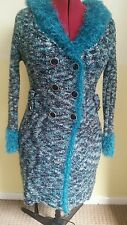 womens wear/Women's clothing /ladies fashion /size M/L/ long Cardigan /Teal . ❤